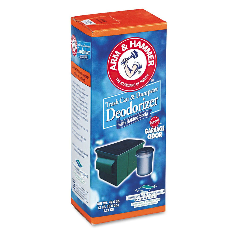 ARM & HAMMER Trash Can & Dumpster Deodorizer, Sprinkle Top, Original, Powder, 42.6oz | Kipe it