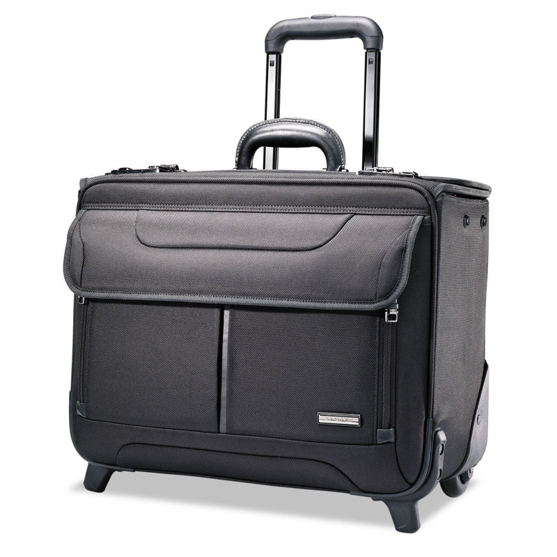 "SAMSONITE Rolling Catalog Case, 17 1/4"" X 7 1/2"" X 13"" - Black 