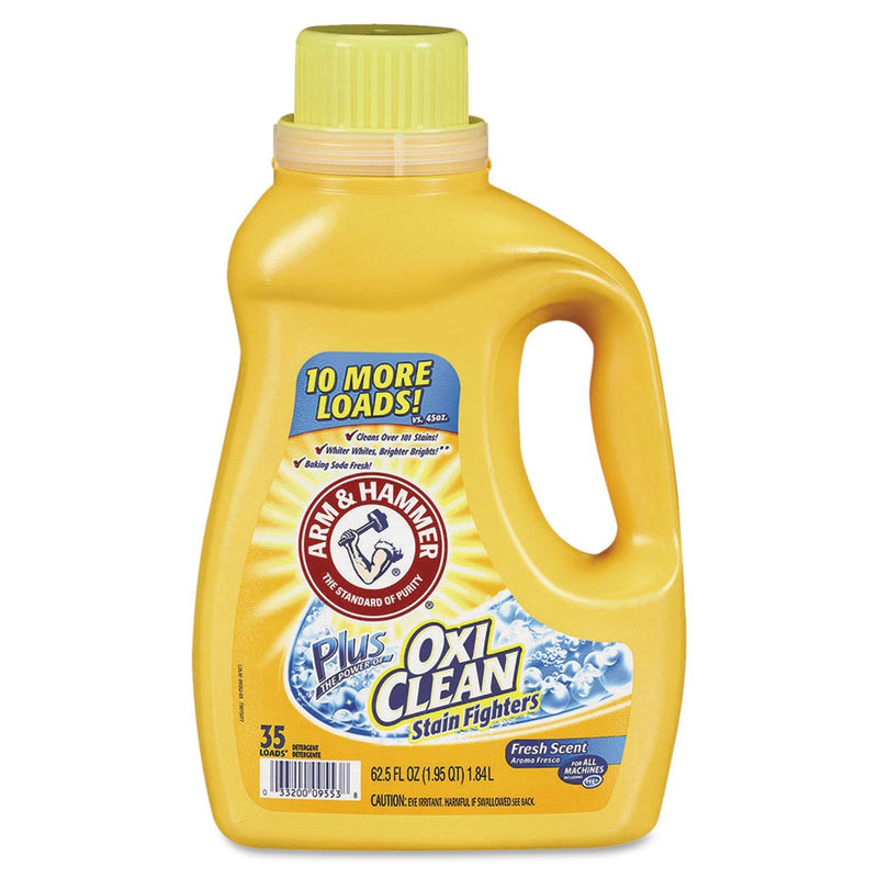 ARM & HAMMER Oxiclean Concentrated Liquid Laundry Detergent, Fresh, 61.25 Oz Bottle | Kipe it