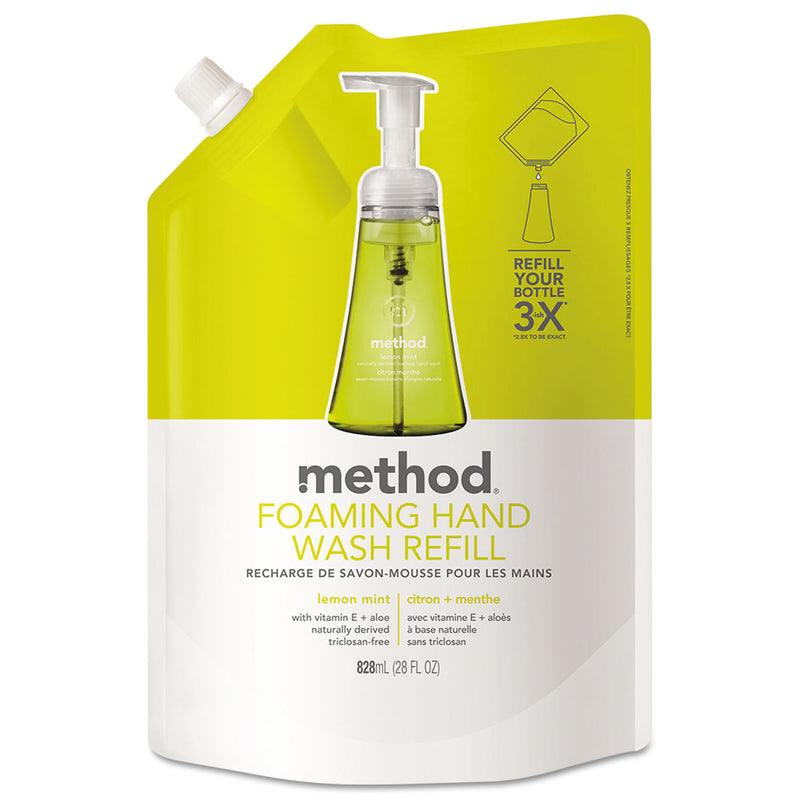 METHOD PRODUCTS Foaming Hand Wash Refill, Lemon Mint, 28 Oz Pouch | Kipe it