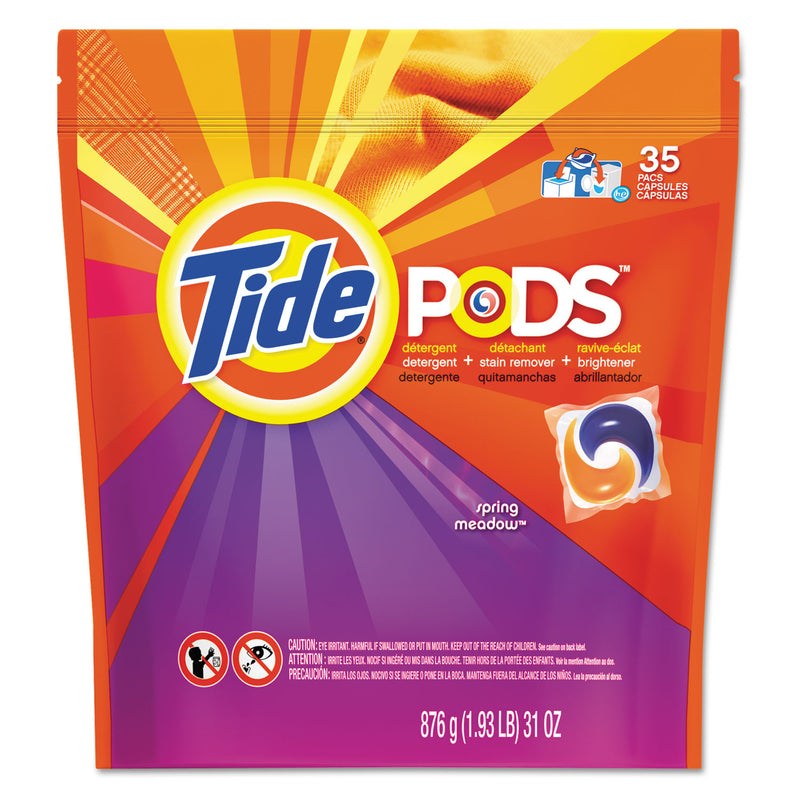 TIDE Pods, Laundry Detergent, Spring Meadow, 35/pack | Kipe it
