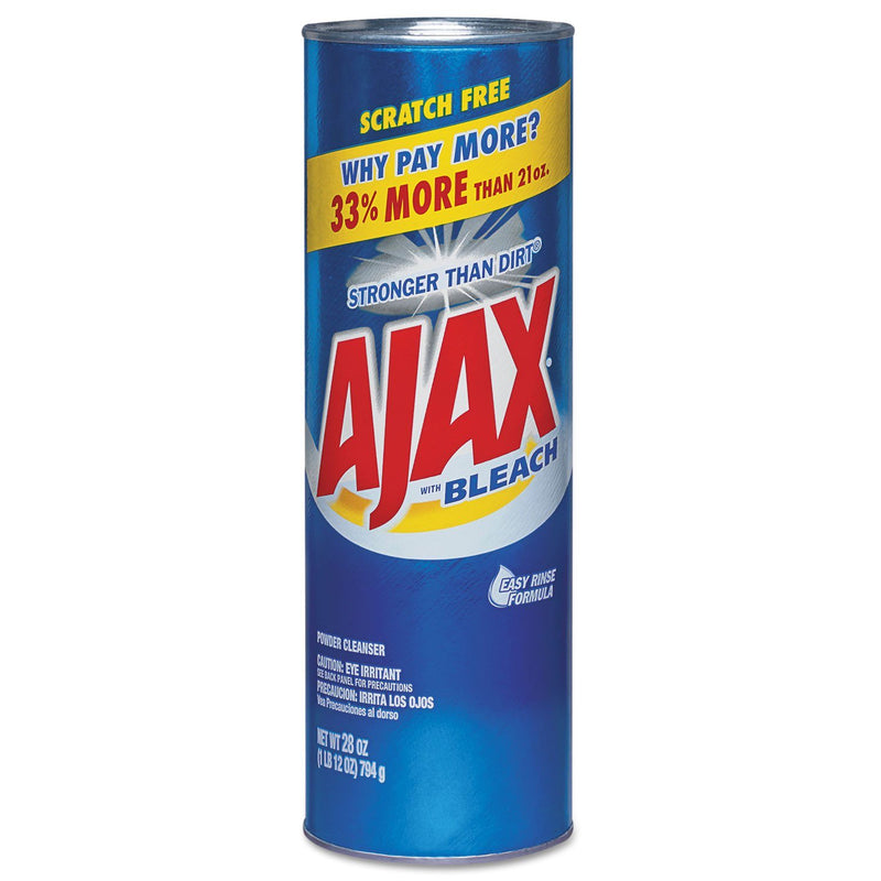 AJAX Powder Cleanser With Bleach, 28 Oz Canister, 12/carton | Kipe it