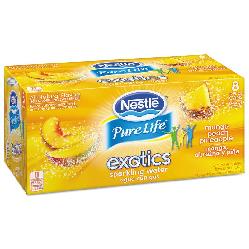 Pure Life Exotics Sparkling Water, Mango Peach Pineapple, 12oz Can, 24/carton | Kipe it