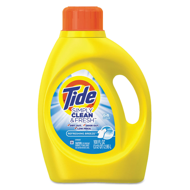 TIDE Simply Clean & Fresh Laundry Detergent, Refreshing Breeze, 100oz Bottle, 4/crtn | Kipe it