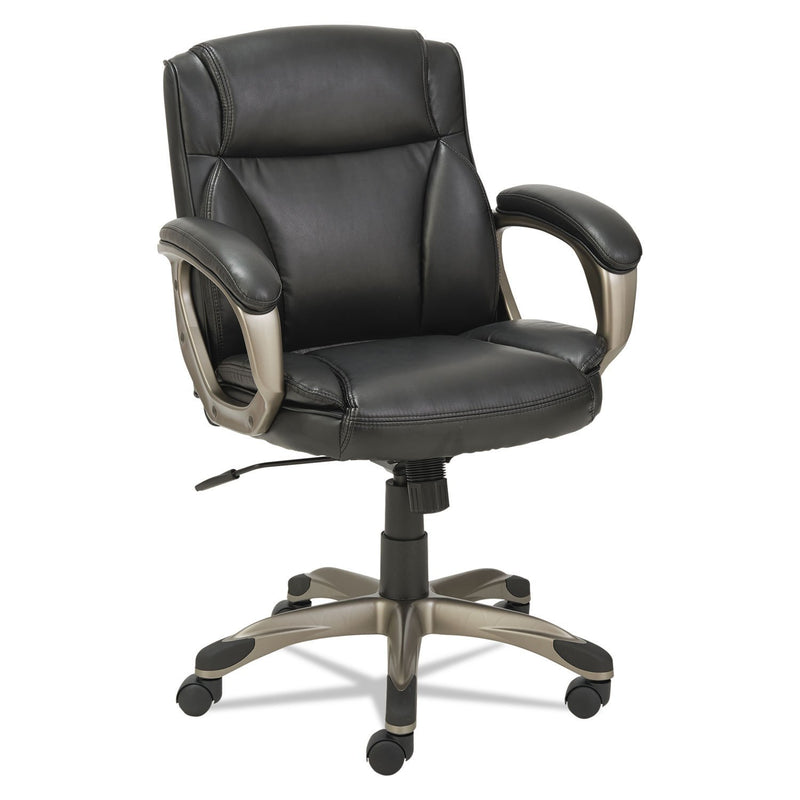 Alera Veon Series Low-Back Leather Task Chair W/coil Spring Cushioning, Black | Kipe it