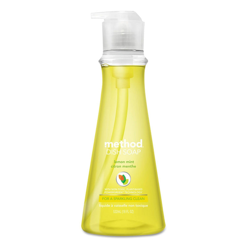 Dish Soap, Lemon Mint, 18 Oz Pump Bottle, 6/carton | Kipe it