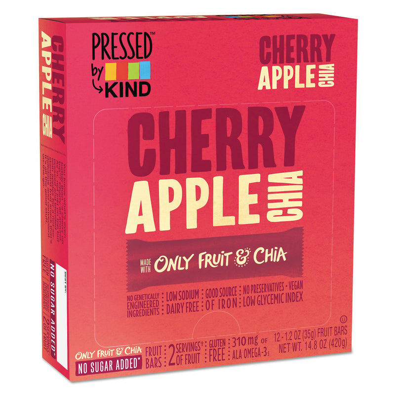 Pressed By Kind Bars, Cherry Apple Chia, 1.2 Oz Bar, 12/box | Kipe it