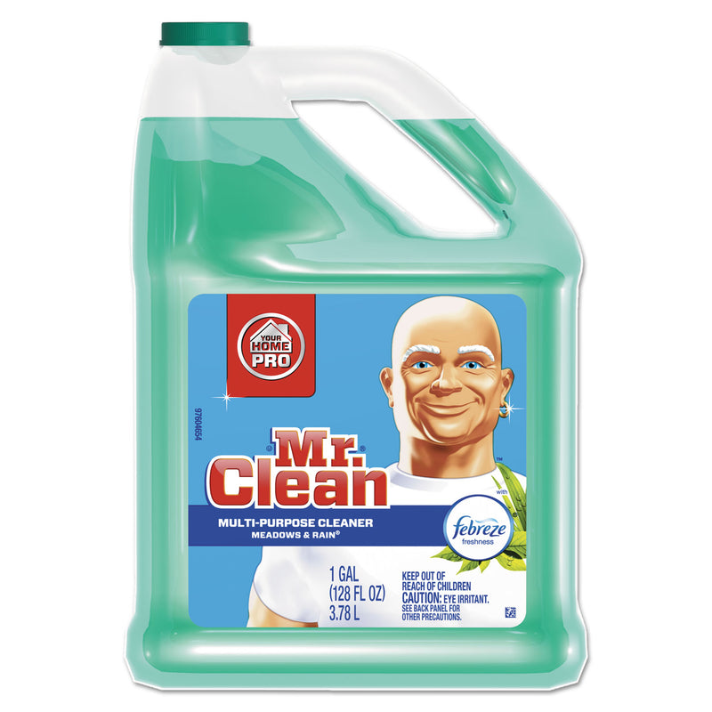MR CLEAN Multipurpose Cleaning Solution W/febreze,128oz Bottle, Meadows & Rain Scent,4/ct | Kipe it