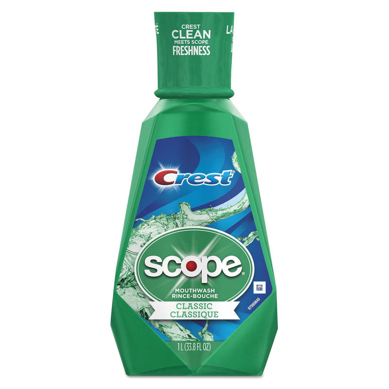 Crest + Scope Mouth Rinse, Classic Mint, 1 L Bottle | Kipe it