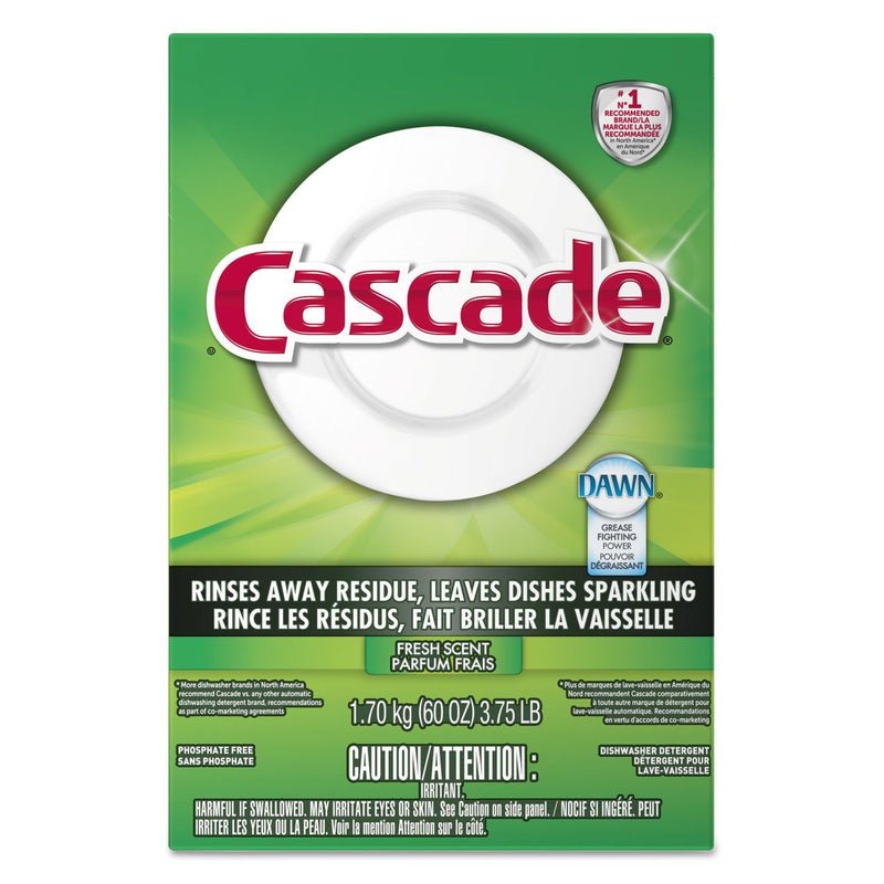 CASCADE Automatic Dishwasher Powder, Fresh Scent, 60 Oz Box, 6/carton | Kipe it