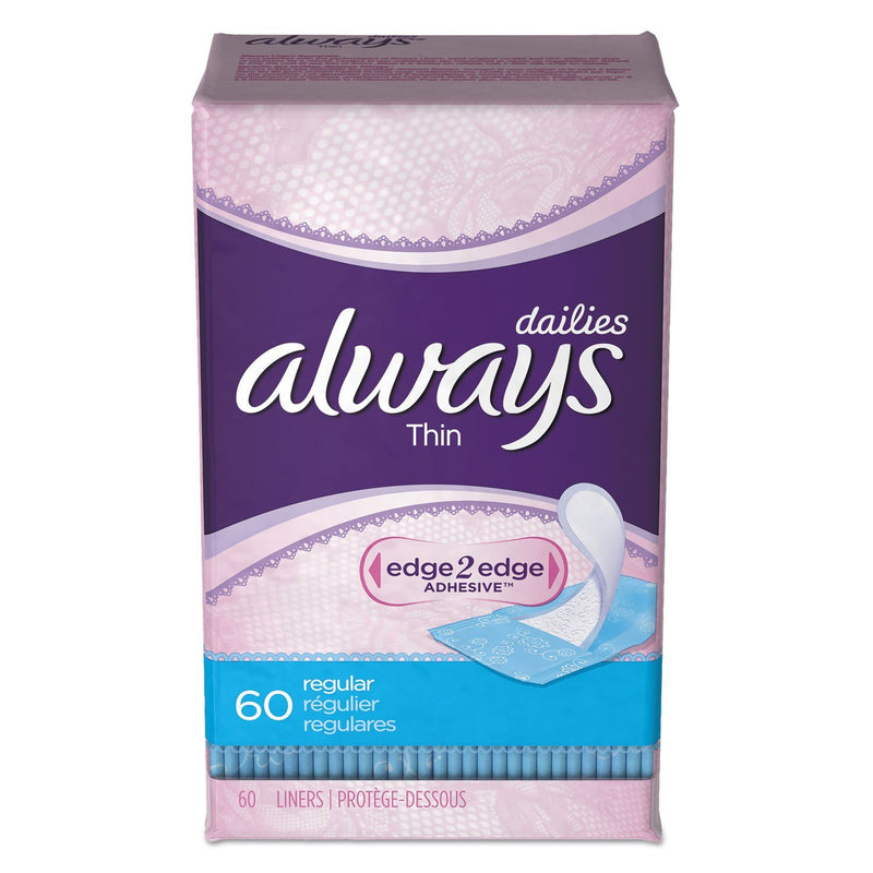 ALWAYS Dailies Thin Liners, Regular, 60/pack | Kipe it