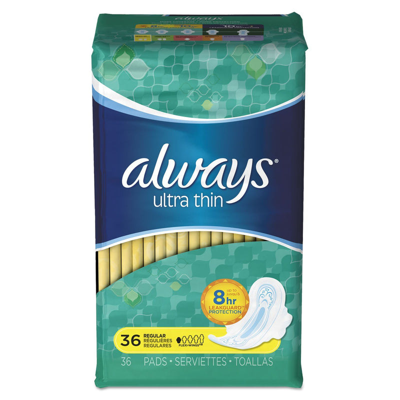 ALWAYS Ultra Thin Pads, Regular, 36/pack, 6 Pack/carton | Kipe it