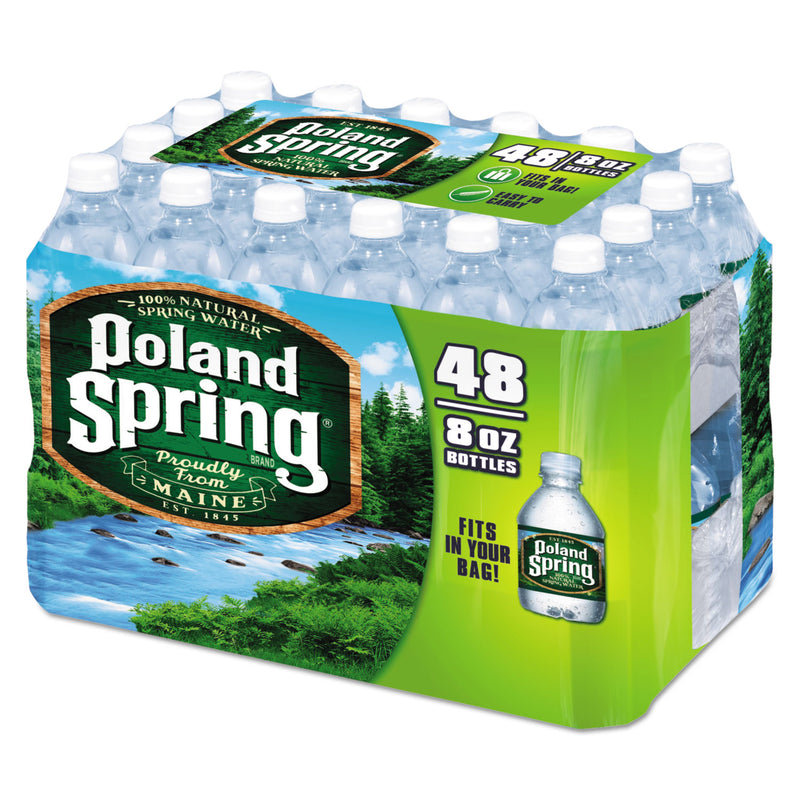 Natural Spring Water, 8 Oz Bottle, 48 Bottles/carton | Kipe it