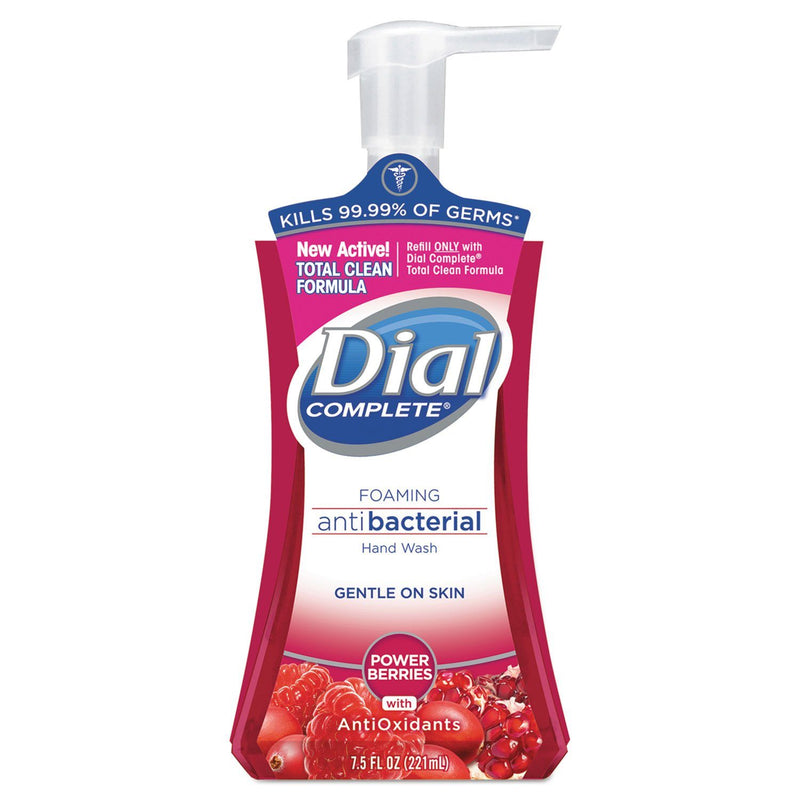 DIAL Antibacterial Foaming Hand Wash, Power Berries, 7.5 Oz Pump Bottle, 8/carton | Kipe it