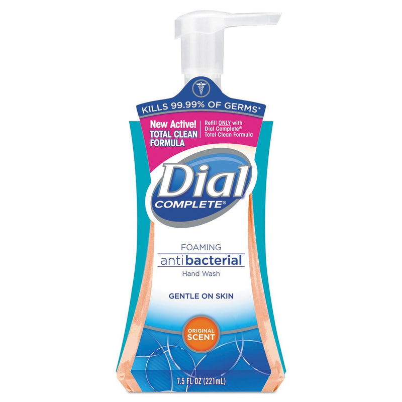 DIAL Antibacterial Foaming Hand Wash, Original Scent, 7.5oz Pump Bottle, 8/carton | Kipe it