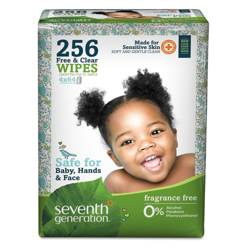 Free & Clear Baby Wipes, Refill, Unscented, White, 256/pack | Kipe it