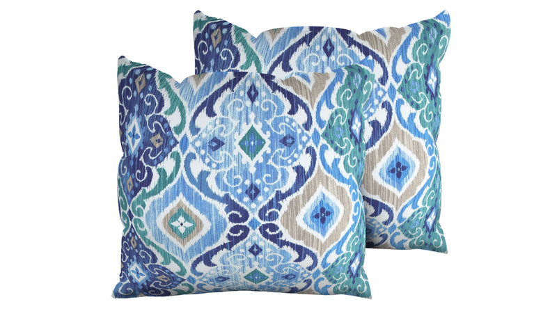 TK Classics Cobalt Outdoor Throw Pillows Square Set of 2 | Kipe it