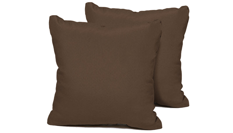 TK Classics Cocoa Outdoor Throw Pillows Square Set of 2 | Kipe it