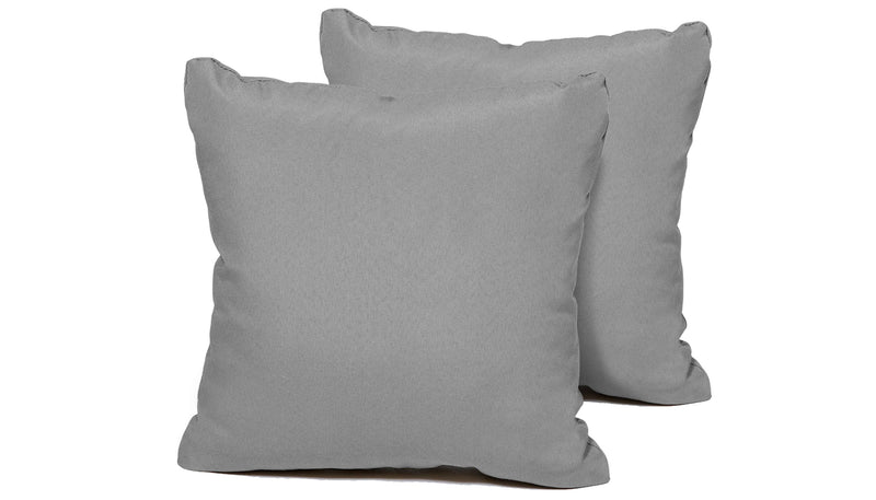 TK Classics Grey Outdoor Throw Pillows Square Set of 2