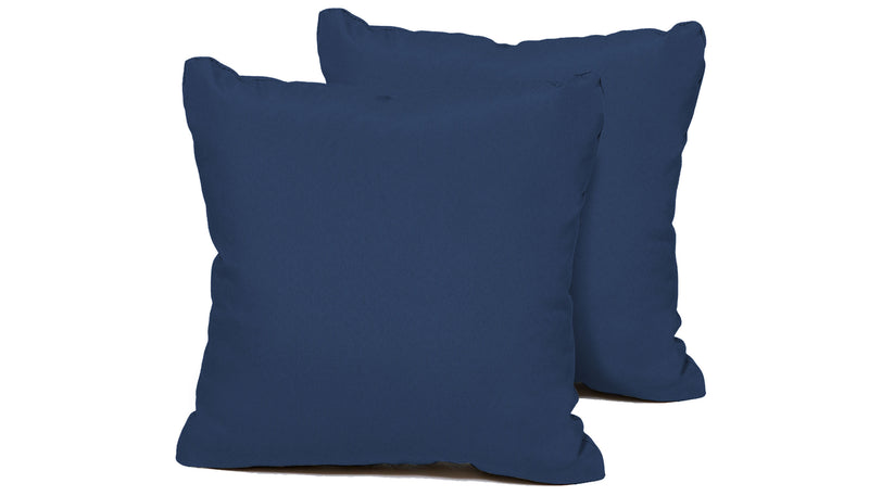 TK Classics Navy Outdoor Throw Pillows Square Set of 2