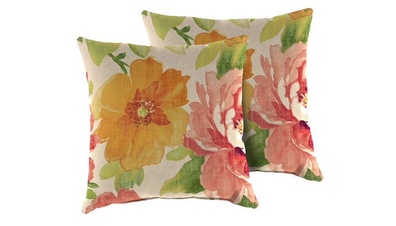 TK Classics Primrose Outdoor Throw Pillows Square Set of 2 | Kipe it