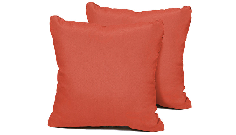 TK Classics Tangerine Outdoor Throw Pillows Square Set of 2