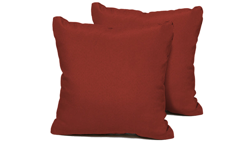 TK Classics Terracotta Outdoor Throw Pillows Square Set of 2