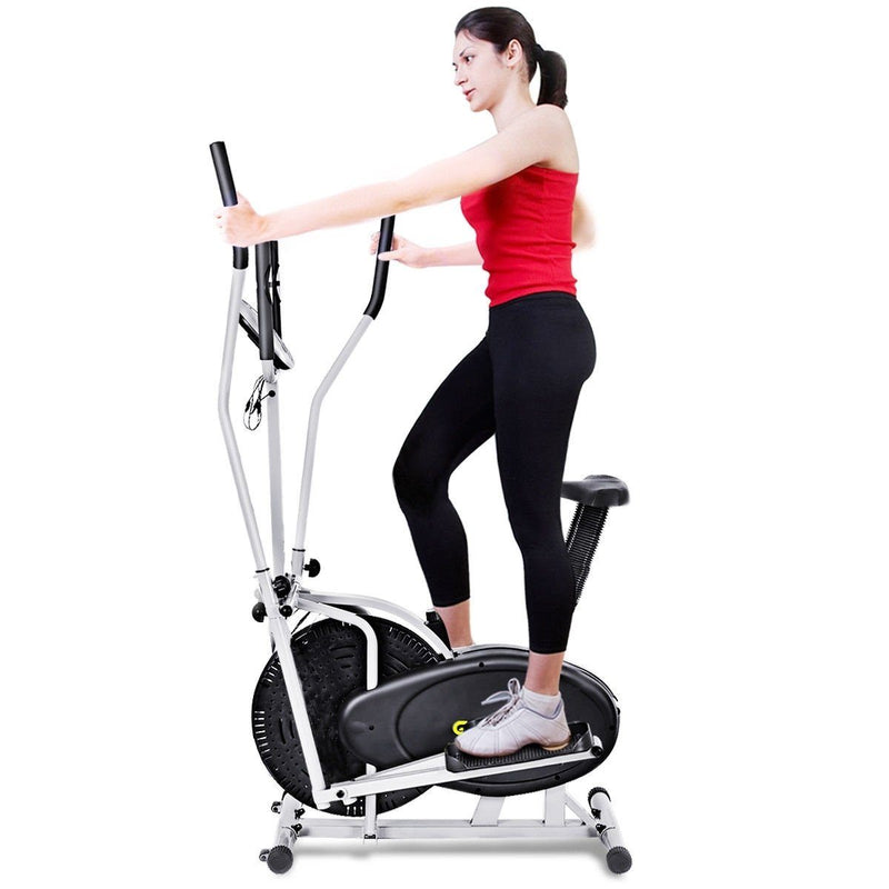 2 in 1 Elliptical Dual Cross Trainer Machine Fan Bike | Kipe it