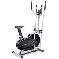 2 in 1 Elliptical Dual Cross Trainer Machine Fan Bike