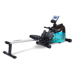 Indoor Rowing Machine with Adjustable Resistance Water Wheel LCD Monitor & Heart Rate Sensor