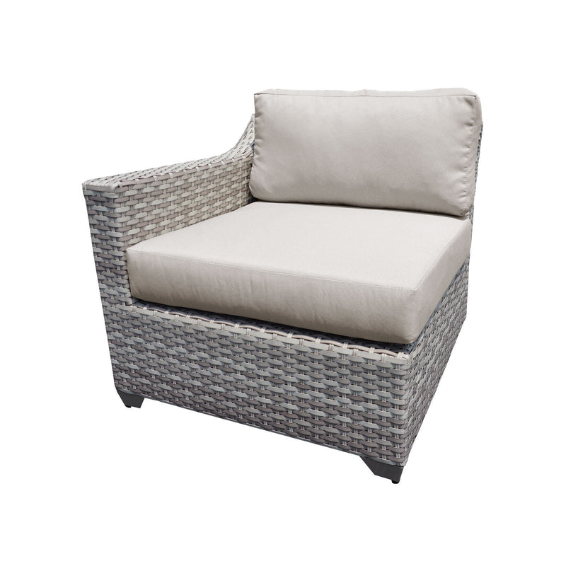TK CLASSICS Fairmont 3 Piece Outdoor Wicker Patio Furniture Set 3b - Grey