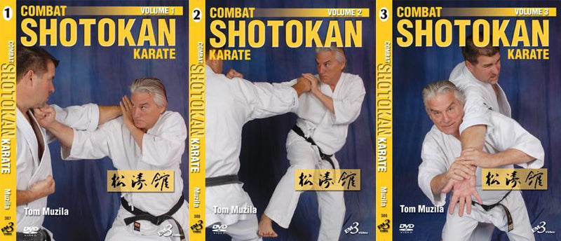 3 DVD SET Combat Shotokan Karate 1,2,3 nagawaza kumite fighting Tom Muzila | Kipe it