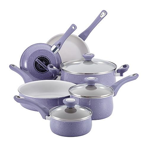 FABERWARE New Traditions 12 Piece Speckled Cookware Lavendar | Kipe it