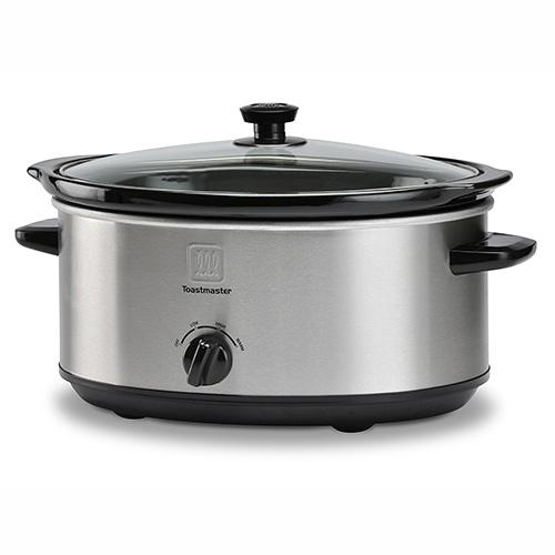 TOASTMASTER 7 Qt Oval Stainless Steel Slow Cooker