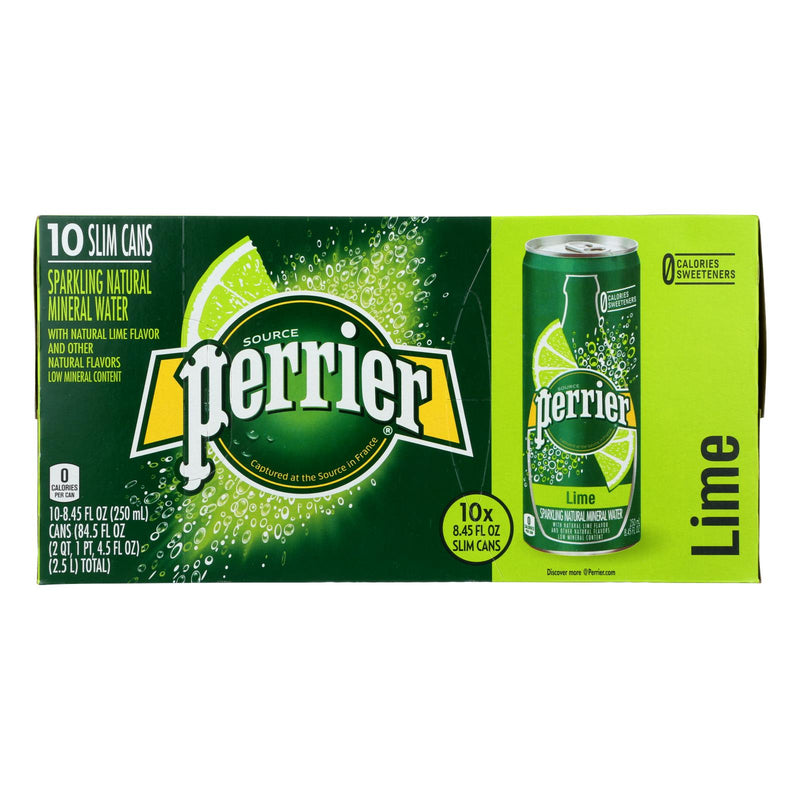 Perrier Sparkling Mineral Water - Lime - Case of 3 - 250 ml | Kipe it