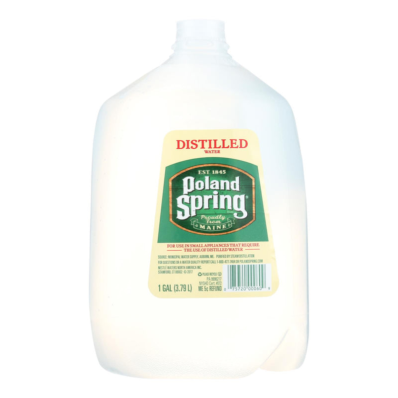 Poland Spring Water - Distilled - Case of 6 - 1 Gal | Kipe it