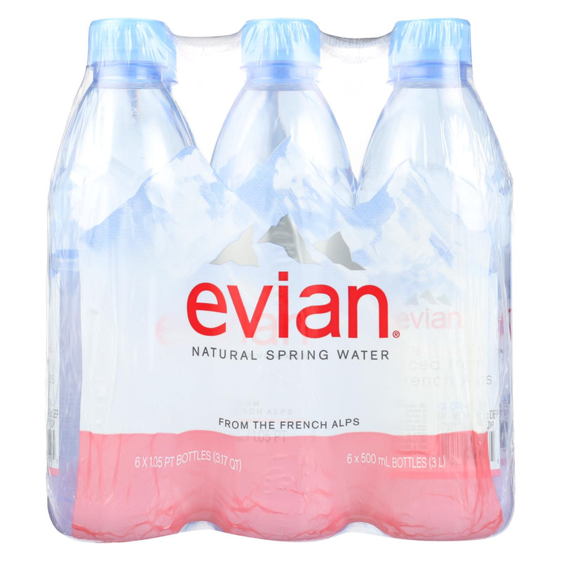 Evians Spring Water Natural Spring Water - Case of 4 - 16.9 FL oz. | Kipe it