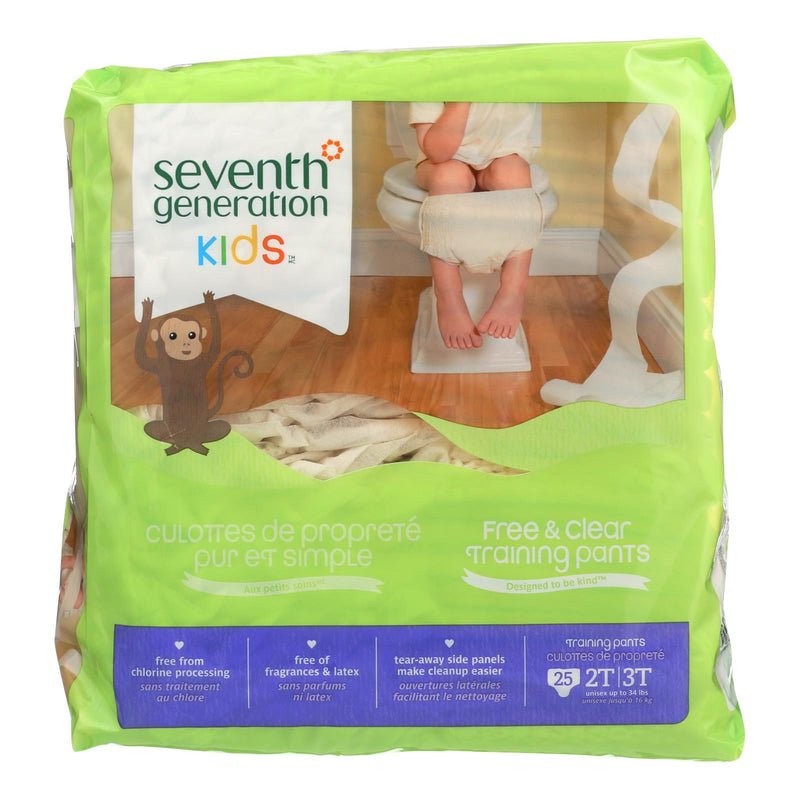 Seventh Generation Free and Clear Training Pants - 2T - 3T - Case of 4 - 25 Count | Kipe it