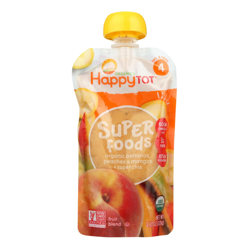 Happy Baby HappyTot Organic Superfood Banana Peach and Mango - 4.22 oz - Case of 16 | Kipe it