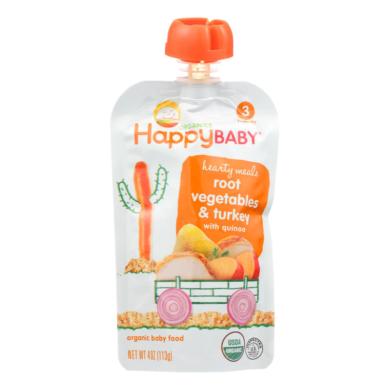 Happy Baby Organic Baby Food Stage 3 Gobble Gobble - 4 oz - Case of 16 | Kipe it