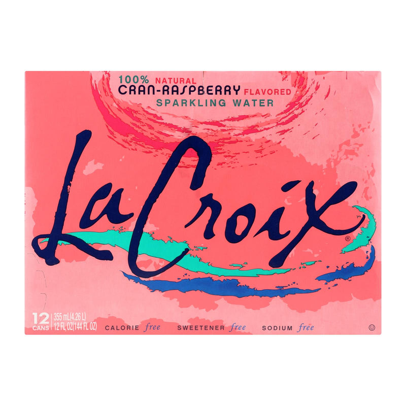 Lacroix Natural Sparkling Water - Cran-Raspberry - Case of 2 - 12 Fl oz. | Kipe it