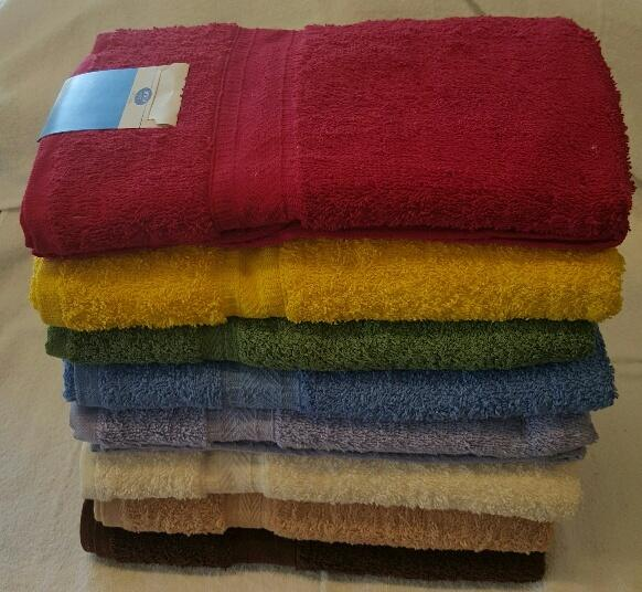 "Bath Towels - Assorted Colors 27"" x 54"" Case Pack 24"