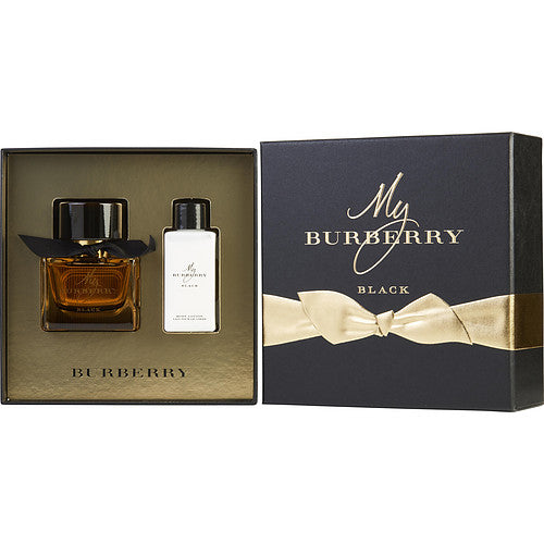 MY BURBERRY BLACK by Burberry PARFUM SPRAY 1.6 OZ & BODY LOTION 2.5 OZ | Kipe it