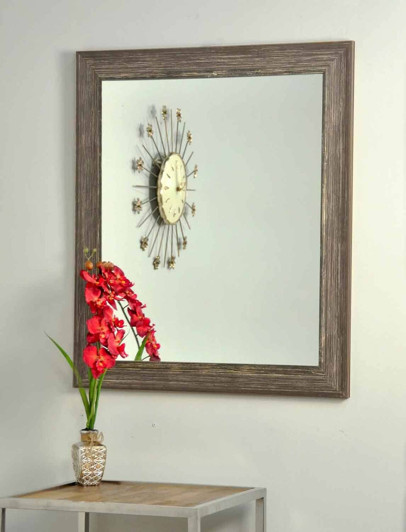 "BRANDTWORKS Simply Distressed Chocolate Wall Mirror - 31.5"" x 49.5"" 