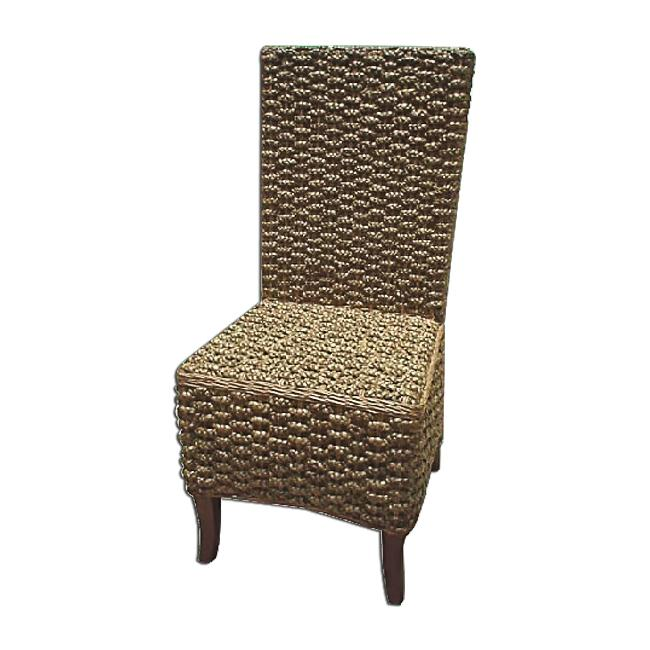 D-Art Mahogany Seagrass Dining Chair