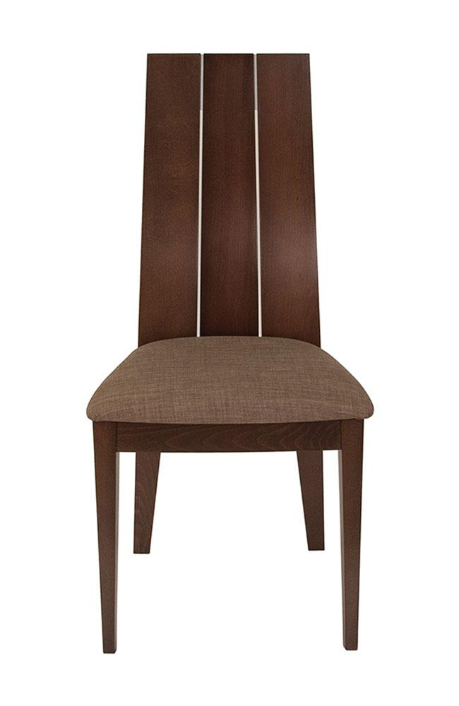 Flash Furniture Wood Dining Chair with Wide Slat Back and Golden Honey Brown Fabric Seat - Espresso Finish