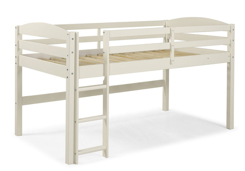 WE Furniture Kids Solid Wood Low Loft Twin Bed - White