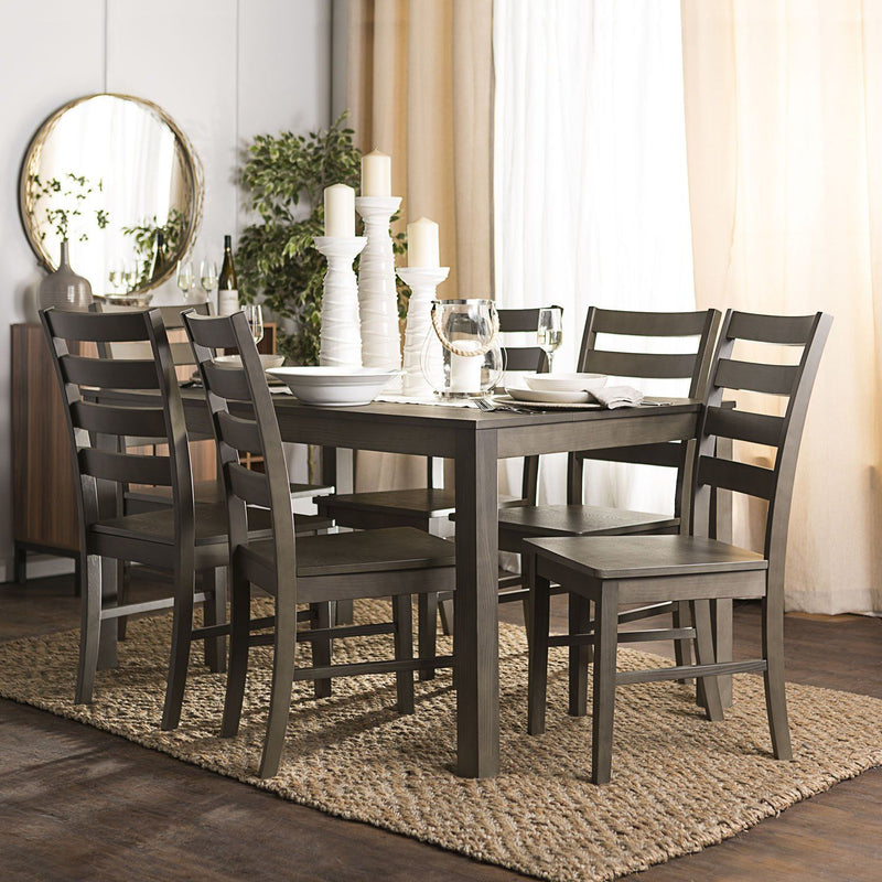 WE Furniture Homestead 7 Piece Wood Dining Set - Aged Grey