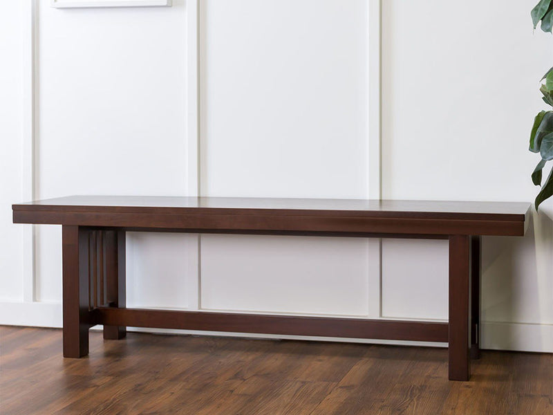 "60"" Cappuccino Wood Kichen Dining Bench"