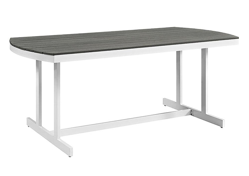 WE Furniture Coastal Outdoor Beach House Style Dining Table - Grey and White | Kipe it